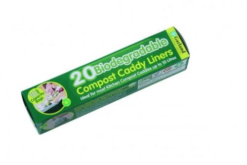 Biodegradable 10 litre Compost Caddy Bin Liners (20 Per Roll)