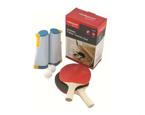 Instant Full Size Table Tennis Set With Retractable Net With Bats And Balls