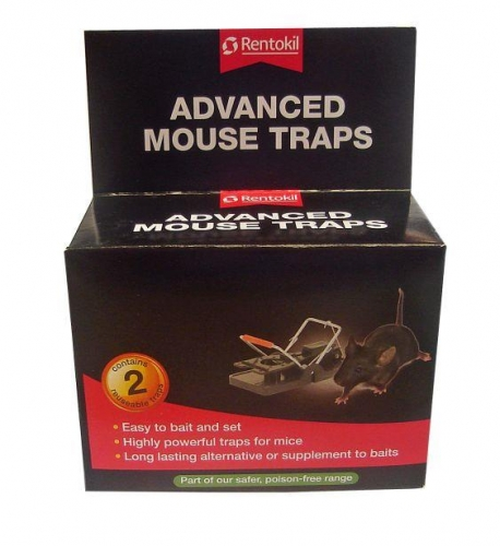 Pack Of 2 Rentokil Advanced Powerful Mouse Trap