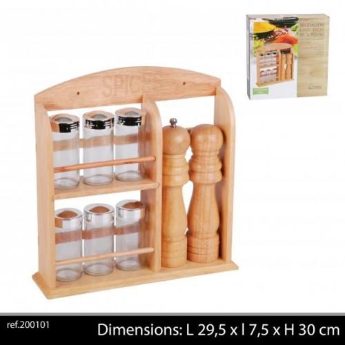 Bamboo Salt And Pepper Set