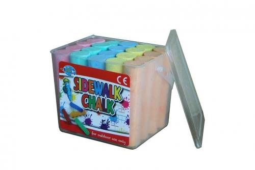 20 PCS Sidewalk Chalk In Tub
