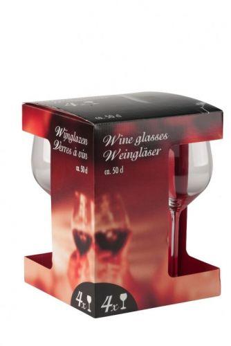 50cl Set Of 4 Red Or White Wine Glasses Glassware Barware
