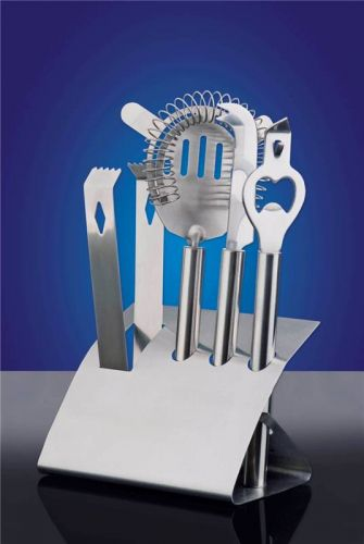 Stainless Steel Bar Tool Set with Stand