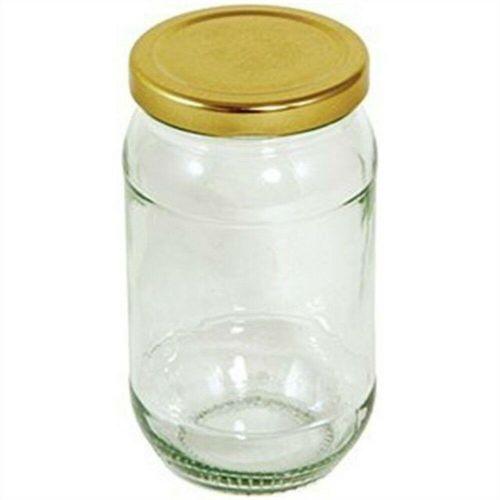 Pack of 6 Tala Glass Jar Gold Screw Lid 454g nice