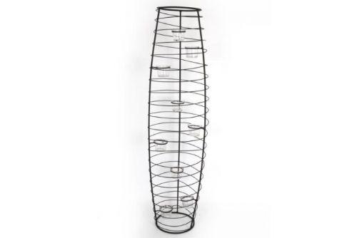 26X26X100Cm 9 Cup Vase Shape Black Metal Tealight Holder Home Decoration