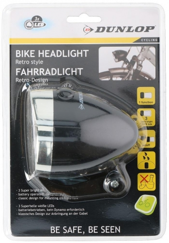 Front light LED ABS Dunlop retro black Stylish and strong