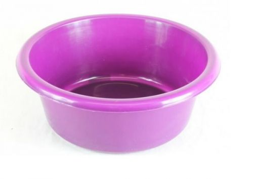 Small Plastic Round Mixing Bowl Plum For Storage Home Commercial Catering