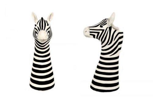 26cm Glazed Zebra Shaped Vase Dolomite home Decoration
