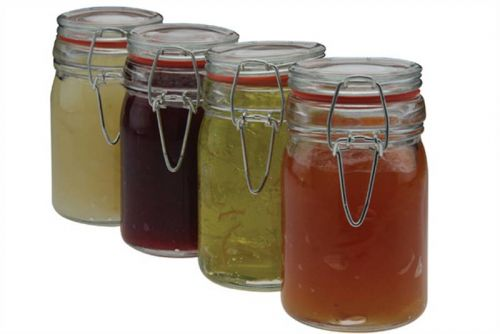 Set of 4 Clip Seal Storage Jars
