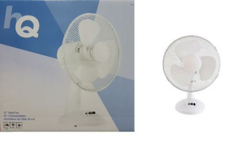12 Inch Electric Desk Fan 3 Adjustable Cooling Speed Oscillating and Safety Grill