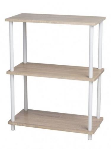 3 Tier Wooden MDF Shelves Rack Cupboard Storage Brown Home Kitchen Office