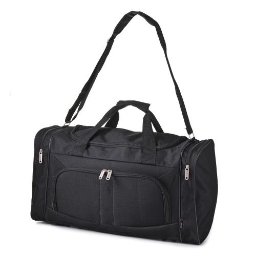 5 Cities Black Duffel Bag Cabin Sized Sports Gym Bag Over Shoulder 32 Litre