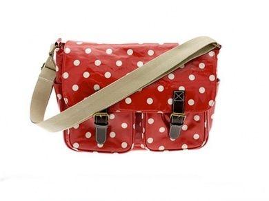 Dotty Saddle Bag Red