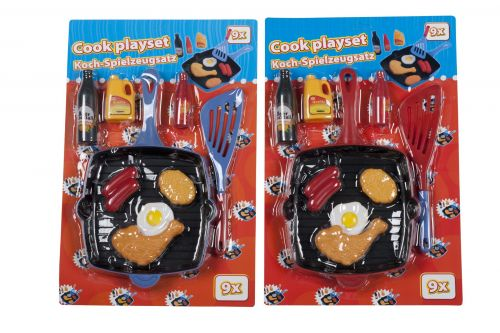 9 pieces Cook Playset Kids Toy Activity Utensils Included