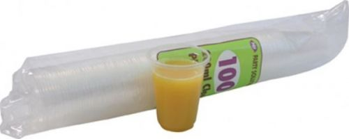 180ml Disposable Plastic Cups Pack of 100 for Party Picnic Outdoor