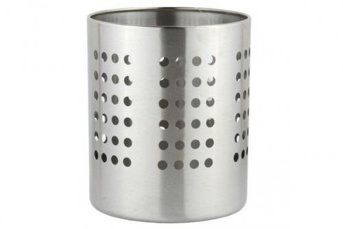 Round Stainless Steel Utensil Holder