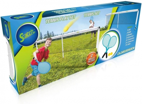 Tennis play Net and Racket Set Combo Free Standing For Badminton