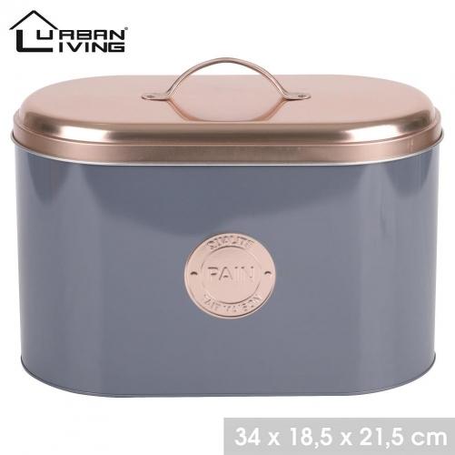 Copper Lid Bread Tin Box Modern Design Large