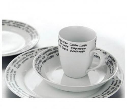 16pc Italian font Dinner Set Porcelain