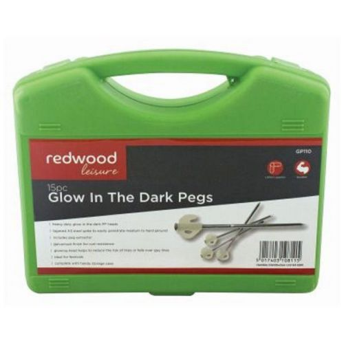 Tent Glow in the Dark Heavy Duty Camping Pegs 15 Pack