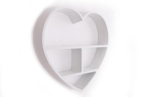 49CM Wall Hanging Plastic Heart Shelf Home Decoration