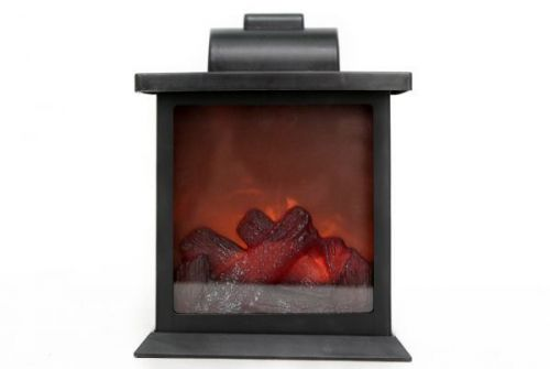 15x19cm Flameless Fireplace Log Burner Lantern Home Decoration