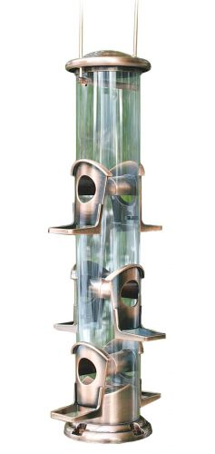 Brushed Copper 6 Port Seed Feeder Stylish