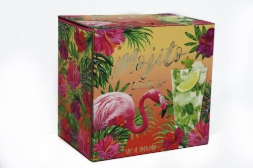 22Cm Glass Mojito Gift Set For 2 Tropical Theme Party Set
