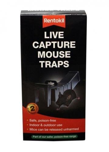 Pack of 2 Rentokil Live Capture Mouse Traps