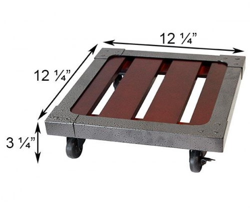 12 Inch Square Heavy Weight Wood Plant Caddy