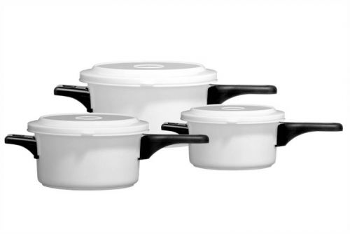 Set of 3 Microwavable Pots