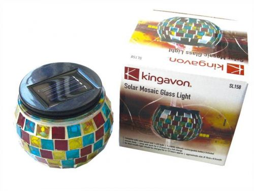 Solar Mosaic Glass Light