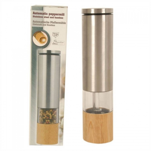 Bamboo/Stainless Steel Pepper Mill