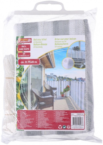Balcony blind 0,75X6M White Strong
