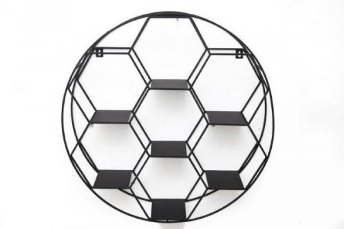 50Cm Hexagon Cuts In Circle Wall Shelf Unit