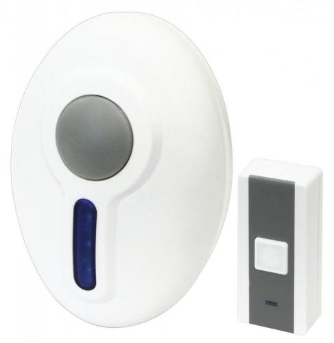 Wireless and Portable Door Chime 100m range Door bell White