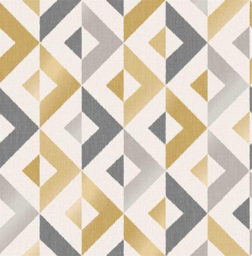 Crown Scandi Geo Mustard Forest Wallpaper