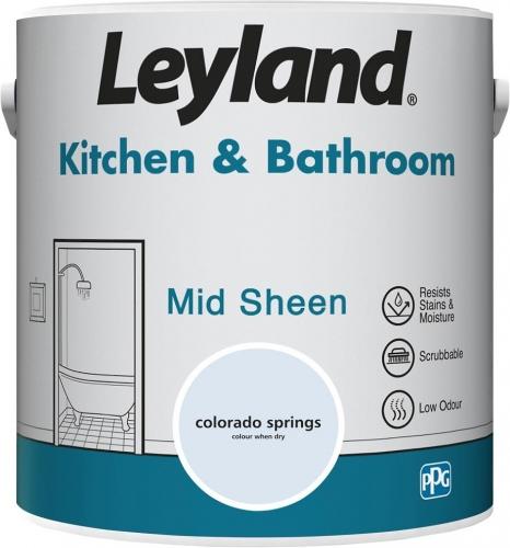 Leyland Kitchen and Bathroom Mid Sheen 2.5L Colorado Spring