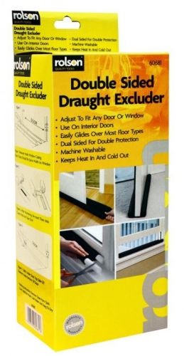 Double Sided Draught Excluder For Any Door Or Window Energy Saving Insulation