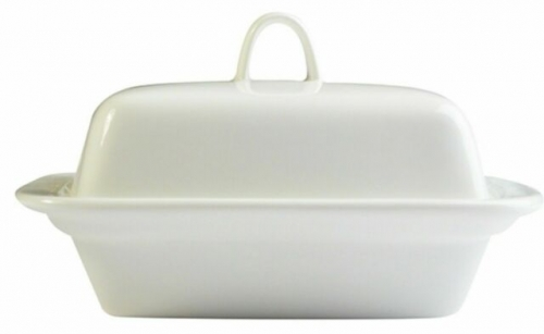 250cc Orion Butter/Margarine Dish made from Porcelain White