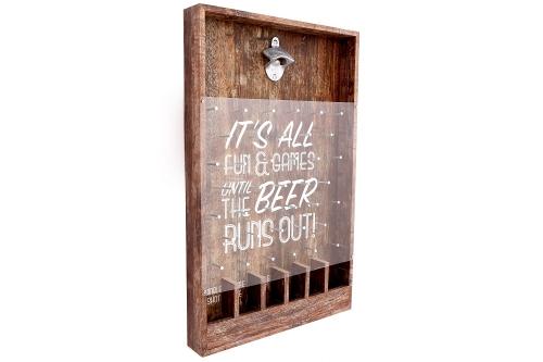 33x53cm Wooden Bottle Top Beer Game