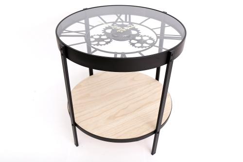 51x49CM Glass Table Clock Metal Home Decoration