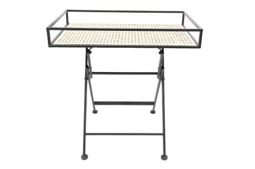60CM Weave Effect Table Strong Home Use