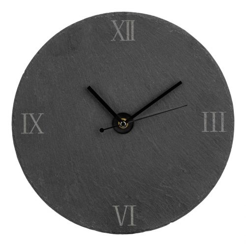 Wall Clock Made of Slate 30cm for Home Kitchen Living Dining