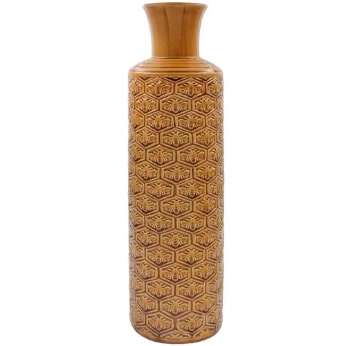 50cm Golden bees Art Polished Ceramic Vase Table Ornament