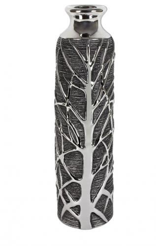 Gun Metal Woodland Vase 40cm