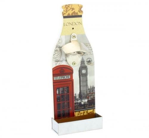 30Cm New London Beer Bottle Opener With Cap Collector
