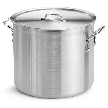 8 Ltr Aluminium Stock Pot With Handles And Lid 24Cm Diameter