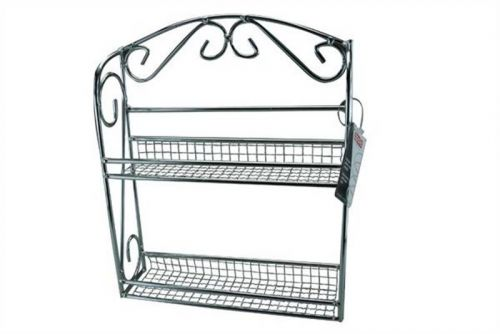 10 Jar Chrome Spice Rack