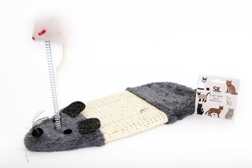 Cat Scratch Mat With Mouse